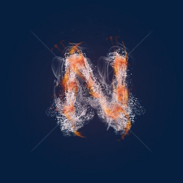 Lovepik صورة Psd 610350084 Id الرسومات بحث صور حريق دخان النار حرف N