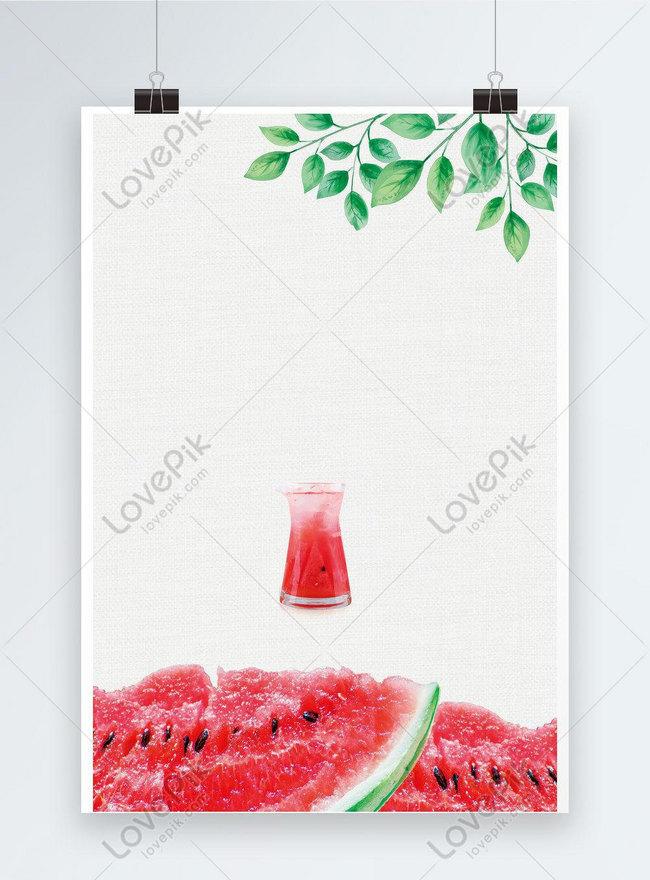 清爽一夏西瓜汁海報