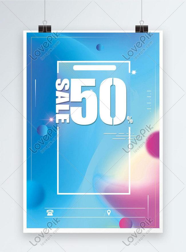 fluid gradient promotional poster