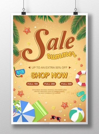 tag-init beach sale poster Mga template