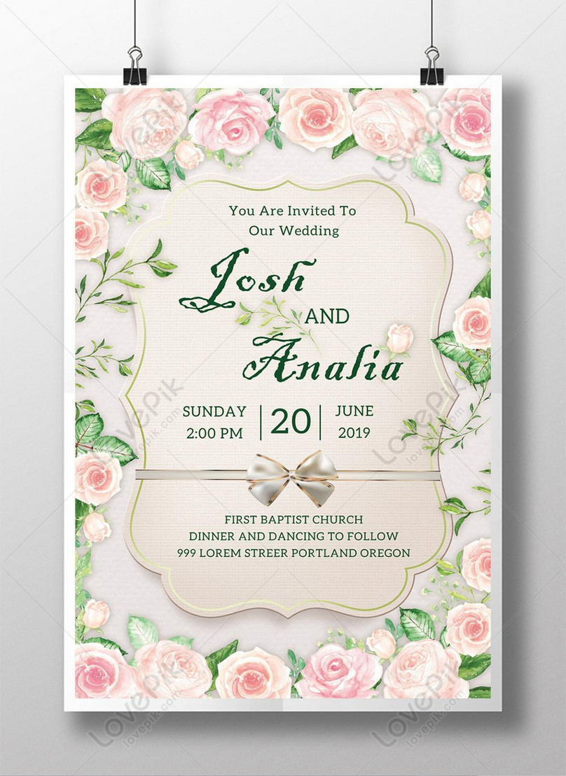 Floral Style Wedding Poster Template Image Picture Free Download 450023255 Lovepik Com