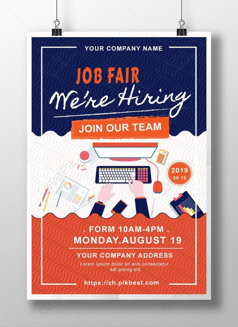Corporate job fair creative design poster template image_picture free  download 450022211_lovepik.com