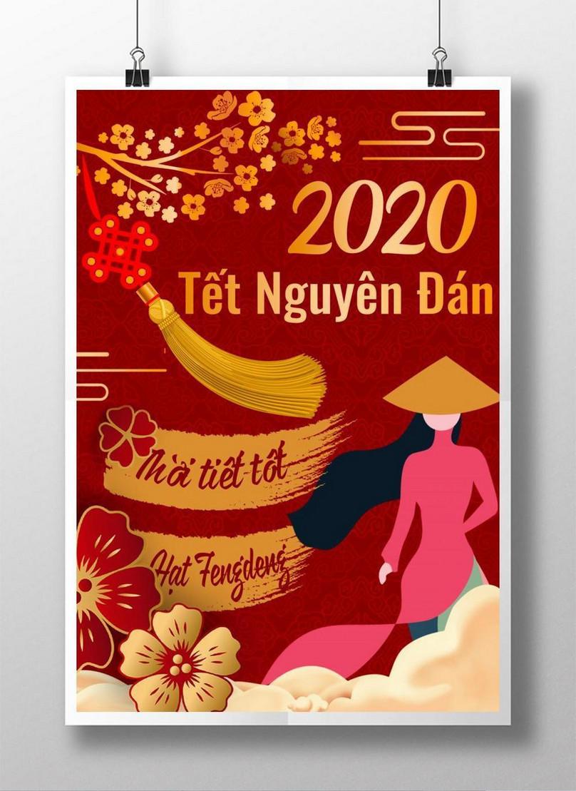 vietnamese lunar new year poster