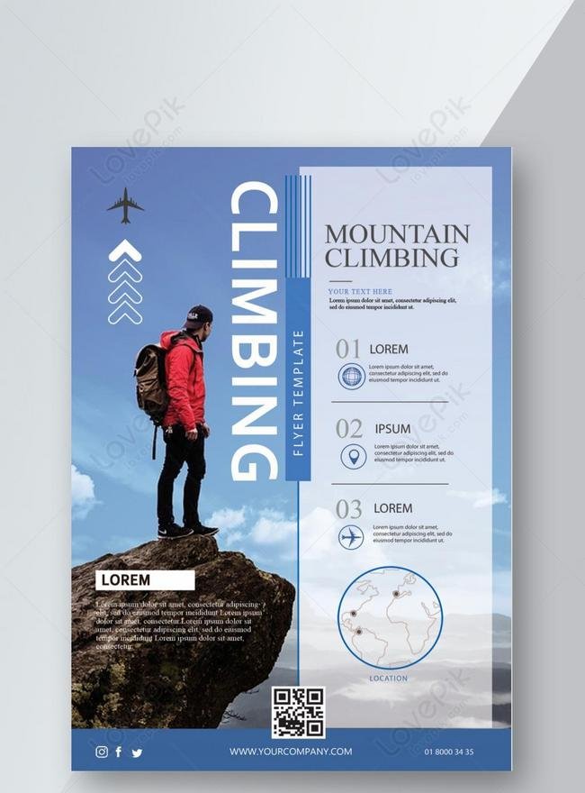 blue outdoor climbing mountain flyer