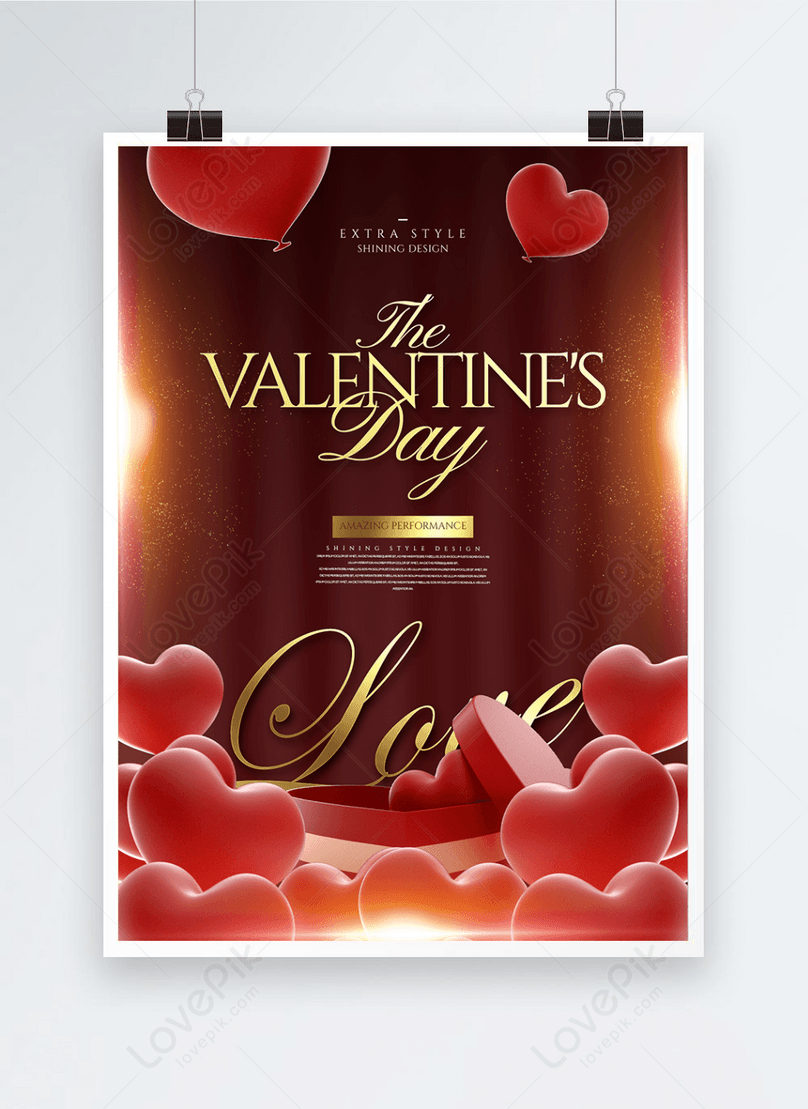 personality fashion light effect creative valentines day poster