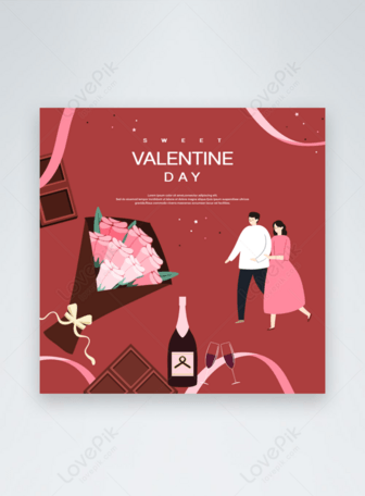 Red cartoon valentines day Templates