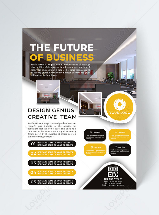 business company business flyer