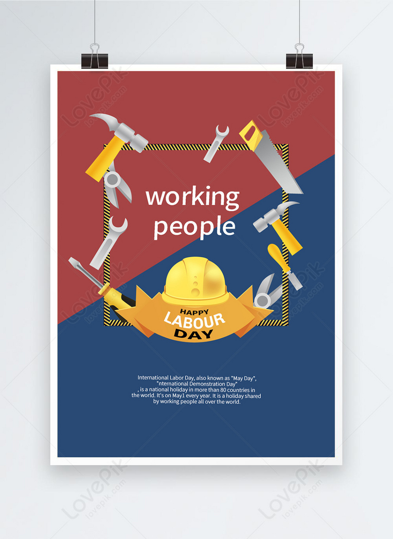 labor day simple tool poster