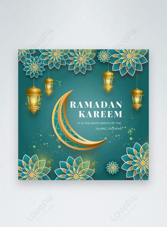 Green Islamic Ramadan Social Media POST Templates