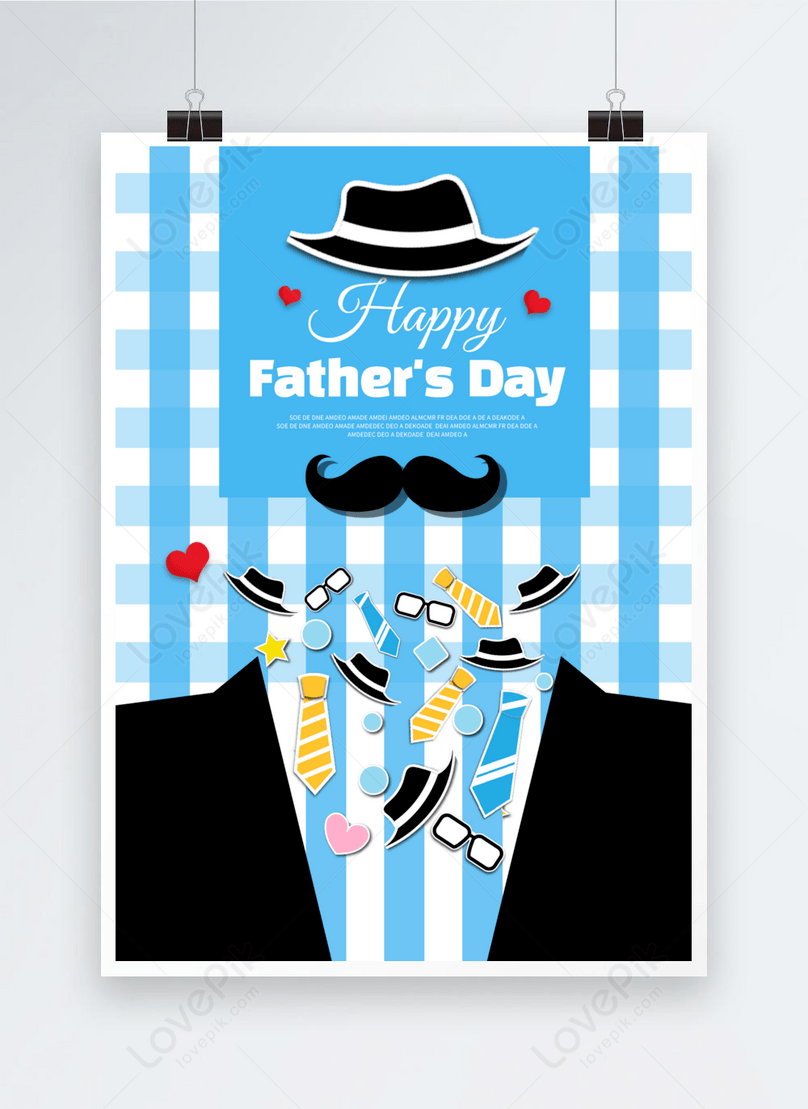 blue suit father festival poster