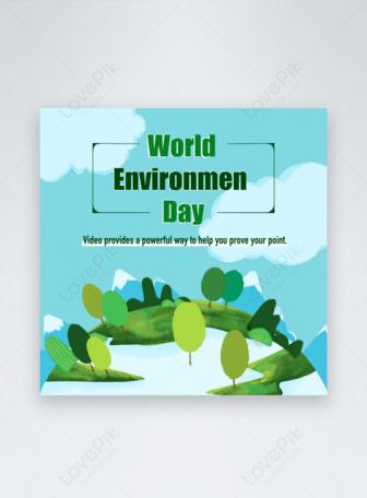 يوم البيئة العالمية غابة الأرض قوالب