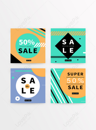 Color geometric promotion banner Templates