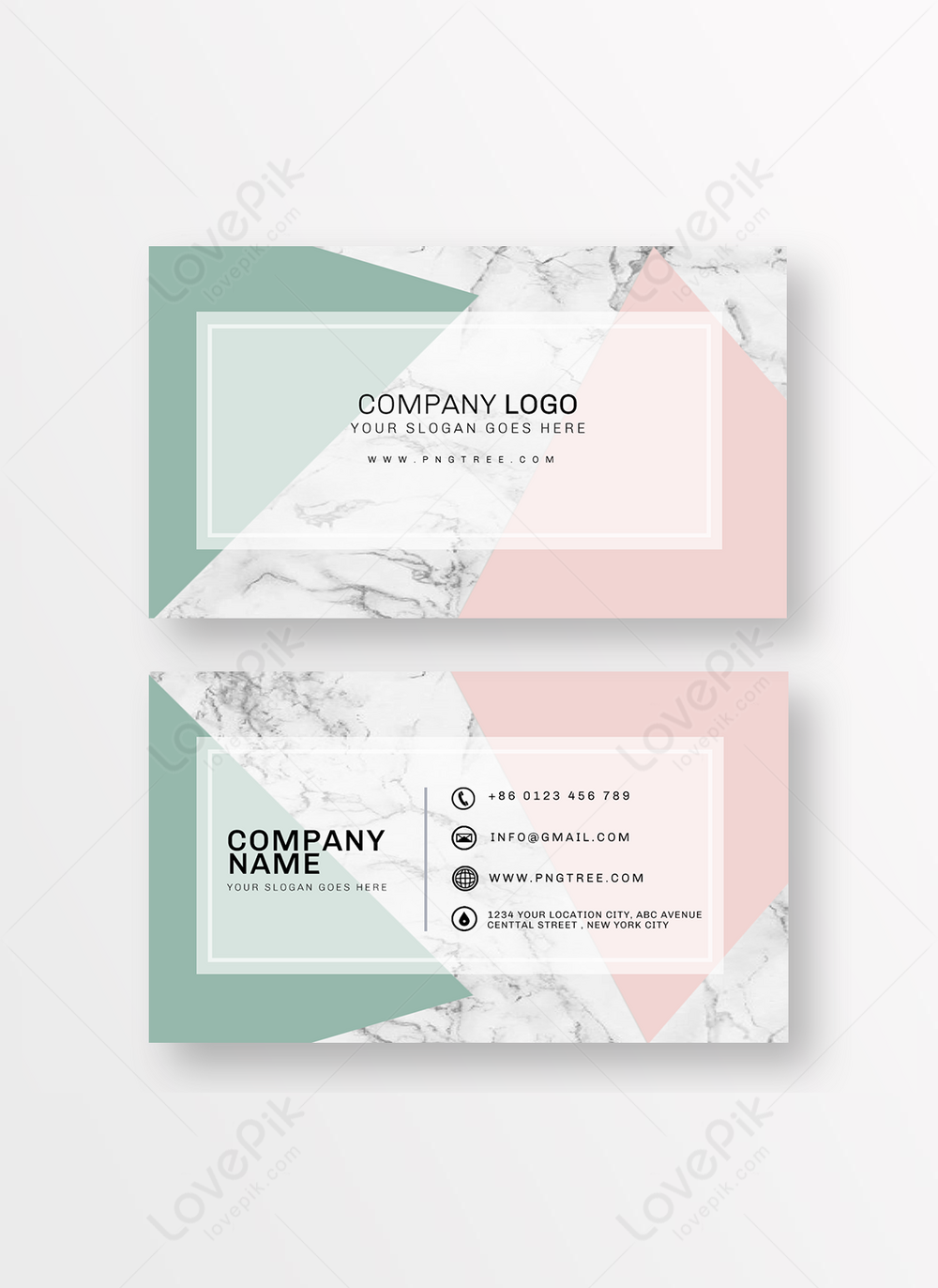 Pink Green Marble Background Business Card Template Image Picture Free Download 465048491 Lovepik Com