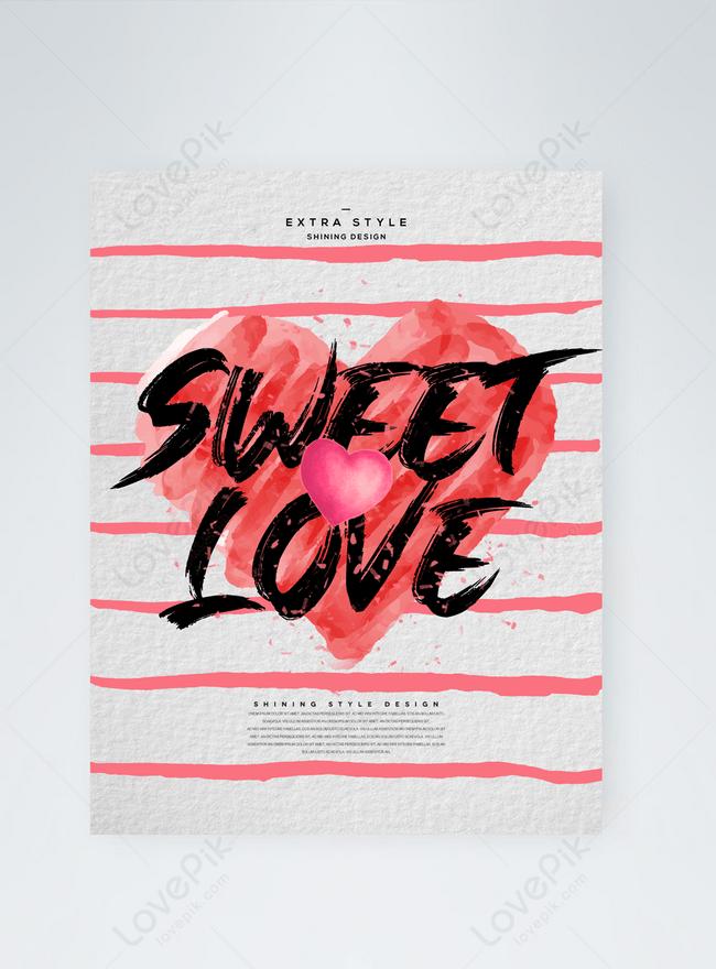 stilvolle und einfache textur valentinstag grußkarte der karikaturtinte