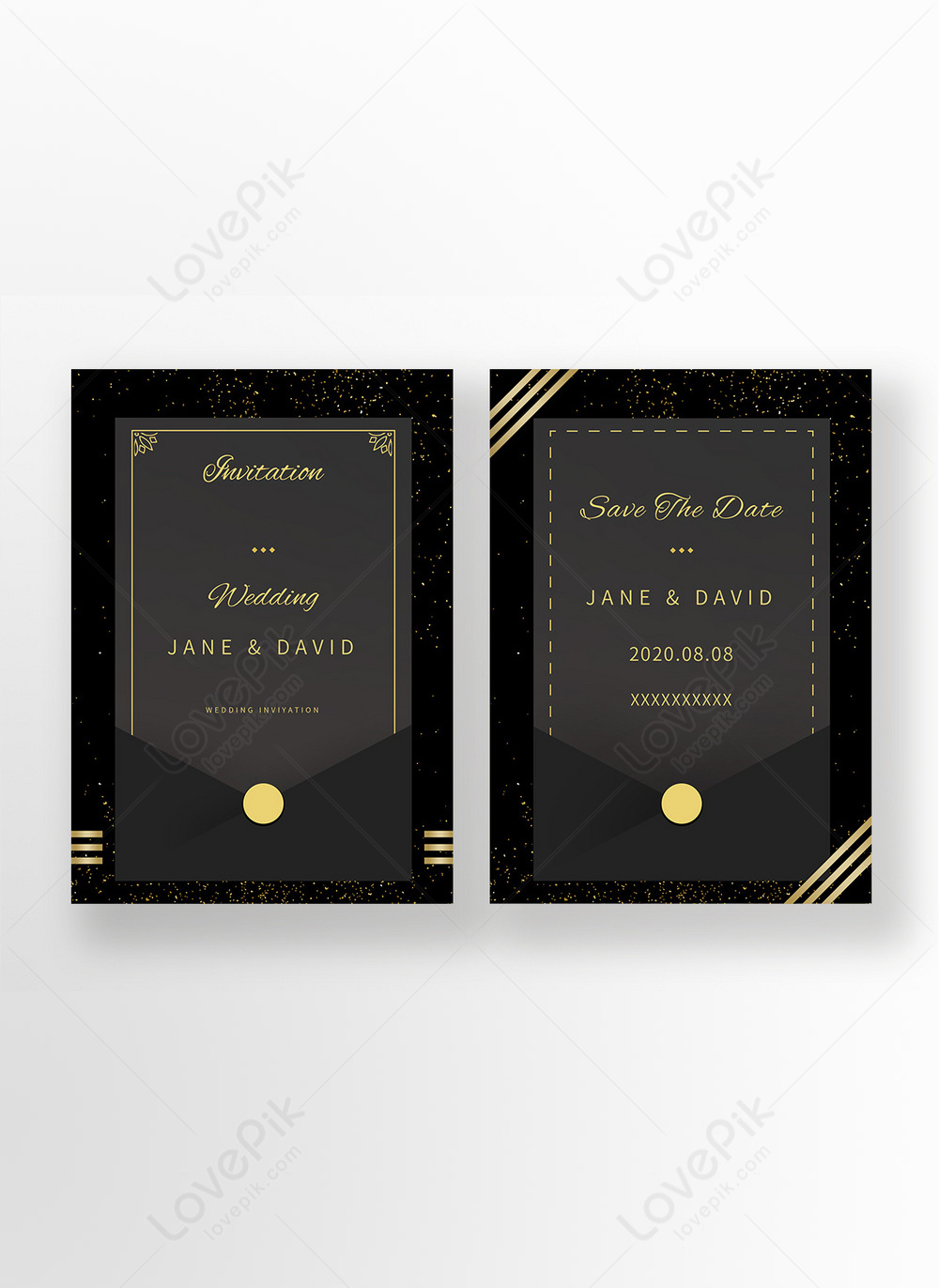 High-end simple black gold wind gold pink european style light luxury  wedding invitation template image_picture free download  465336826_lovepik.com