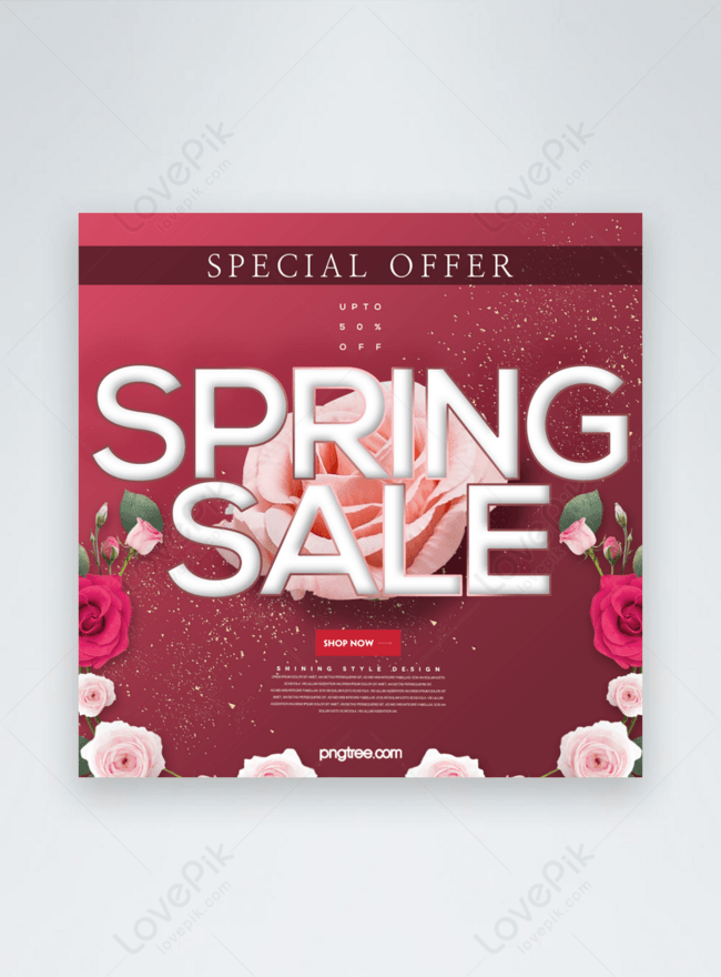 fashion beautiful romantic spring flowers promotion sns advertising