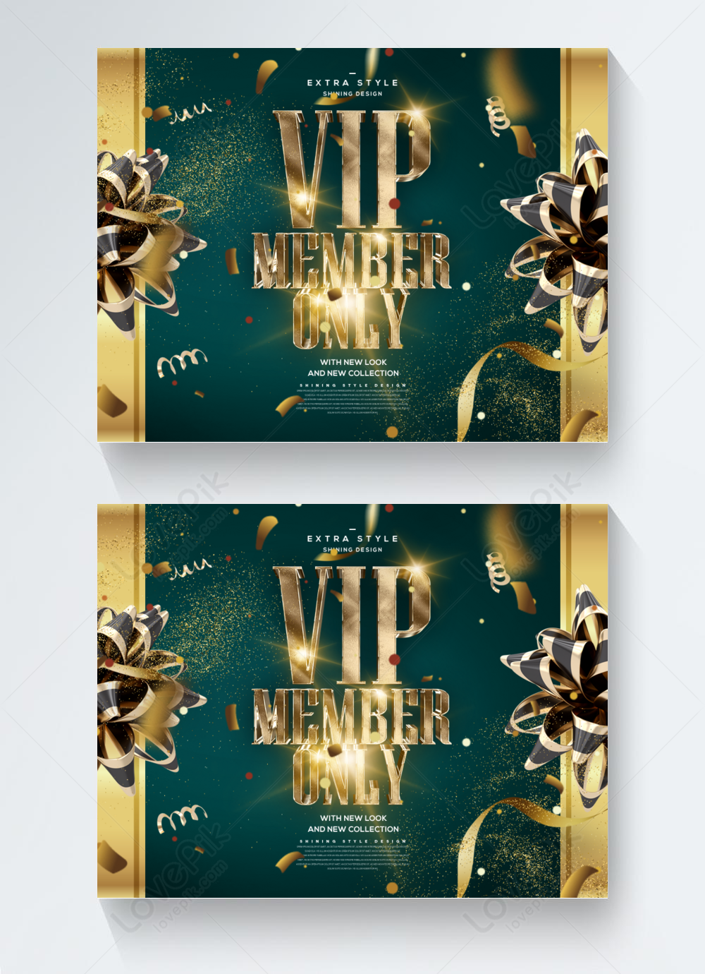 High-end luxury golden effect vip member themed business invitation card  template image_picture free download 465436259_lovepik.com