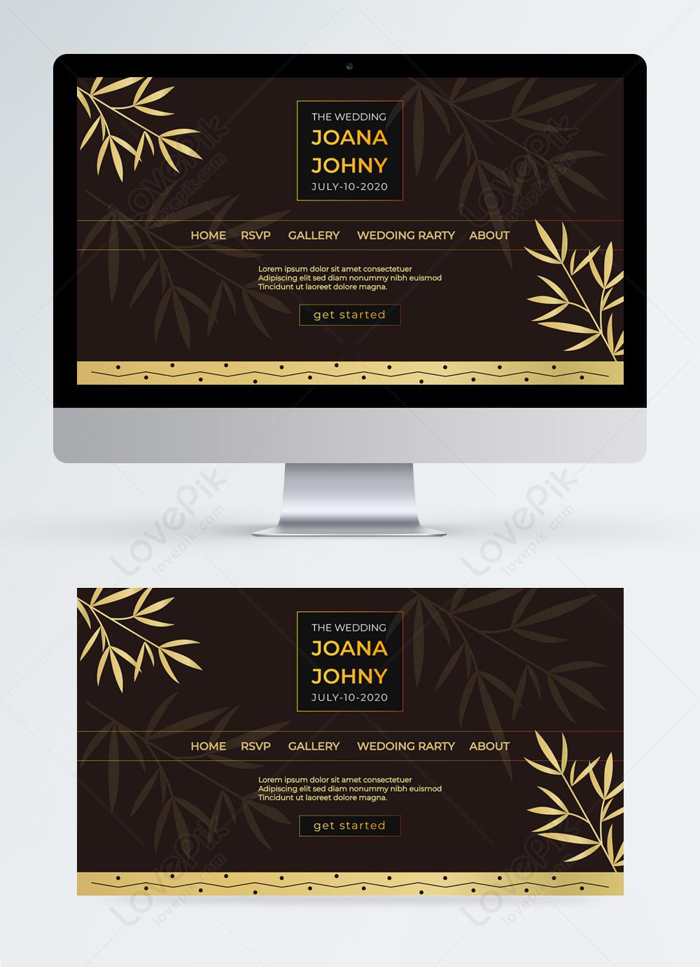 Simple Black Gold Rose Wedding Planning Web Design Template Image Picture Free Download 465444813 Lovepik Com