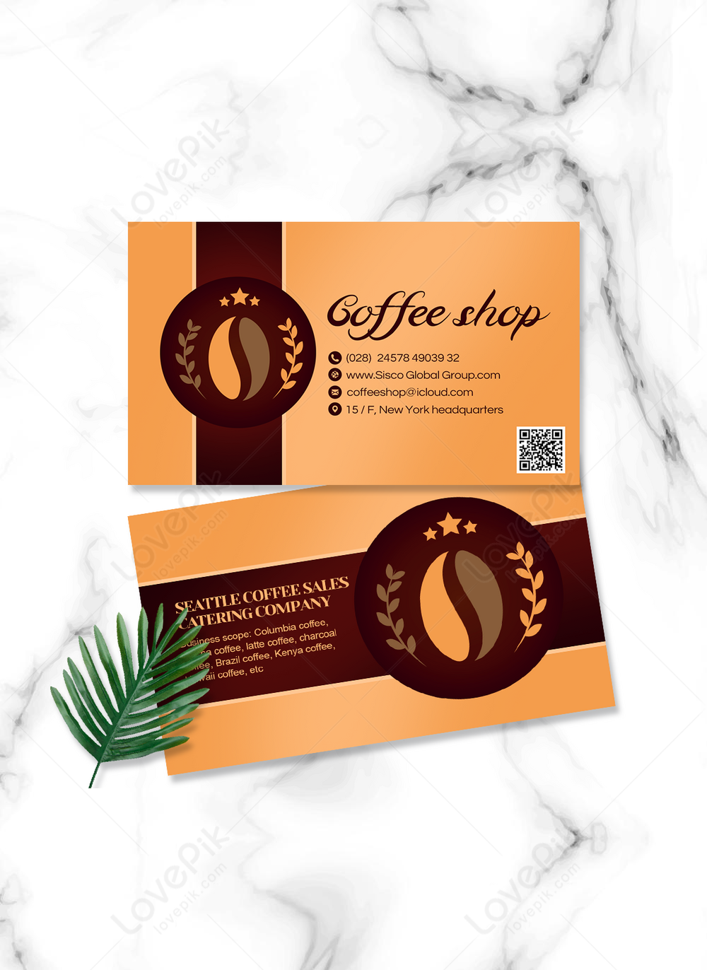 Coffee house business card design template image_picture free Regarding Coffee Business Card Template Free