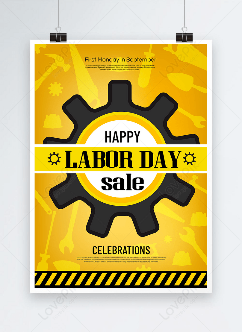 american labor day holiday poster