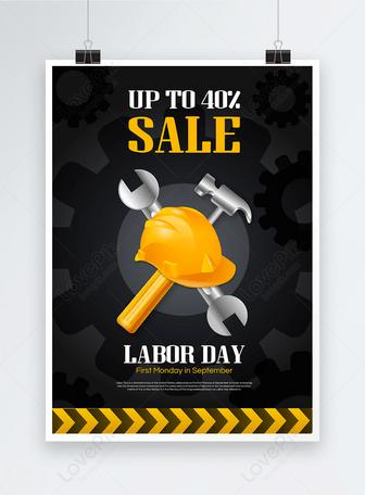 Amerikanisches Arbeitstagfeiertagsplakat Vorlagen