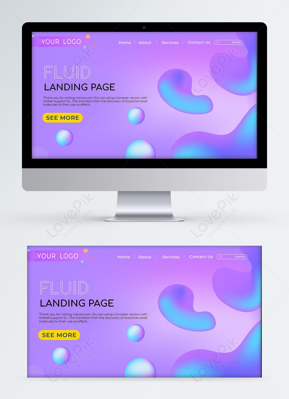 Purple Fluid Elements Landing Page Ui Design Template Image Picture Free Download 465500969 Lovepik Com