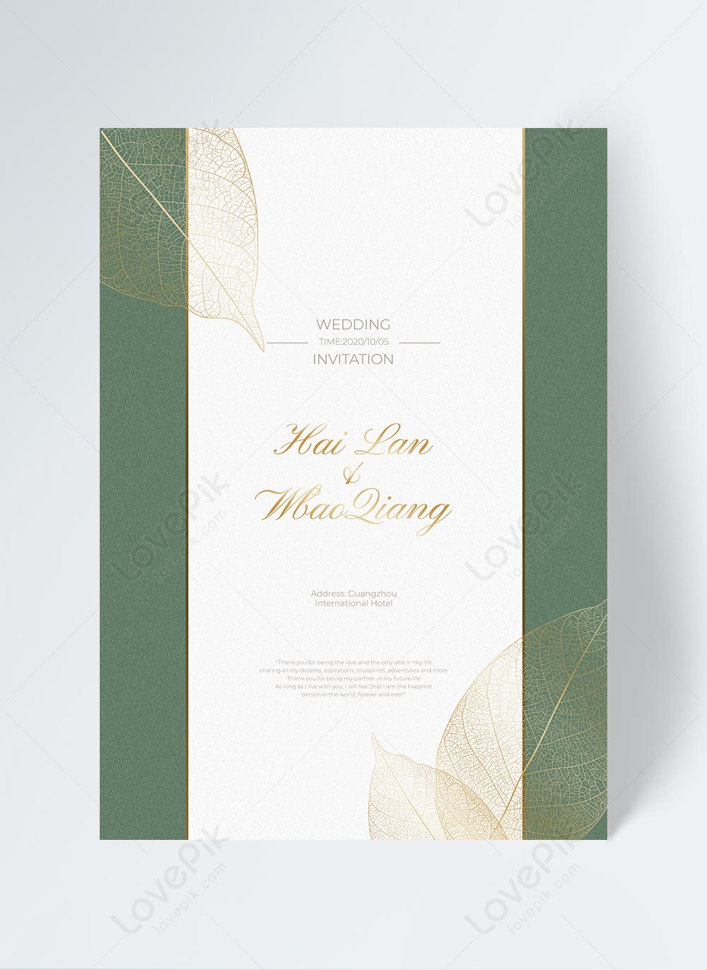 Golden Leaves Wedding Invitation Design Template Image Picture Free Download 465521007 Lovepik Com