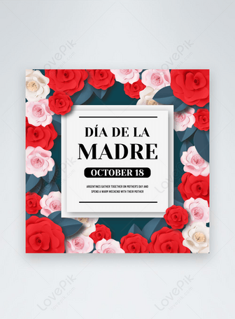 Argentina Mother's Day social media post template Templates