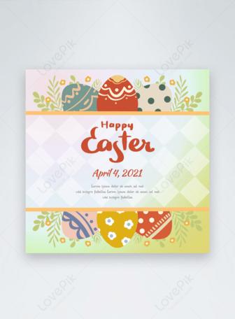 Sulu Boya renkli Paskalya yumurtaları Şablonlar