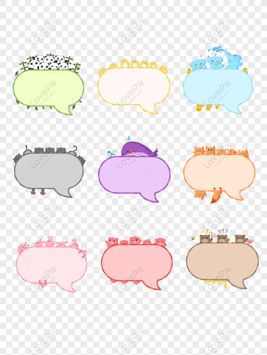 Gratis Kartun Lucu Percakapan Gelembung Bahan Tema Seri