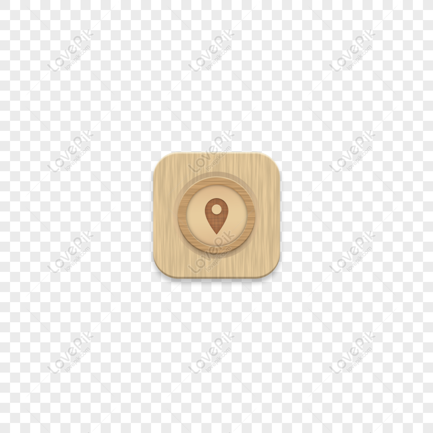 Free Map Positioning Icon Mobile Theme Wood Grain App Png Psd Image Download Size 2000 2000 Px Id 828846364 Lovepik