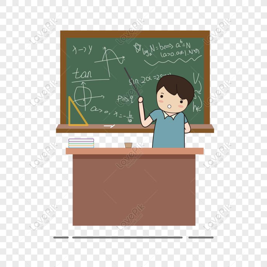 Free Math Teacher Cartoon Vector Teacher Day Element Png Ai Image Download Size 8333 8333 Px Id 828891261 Lovepik