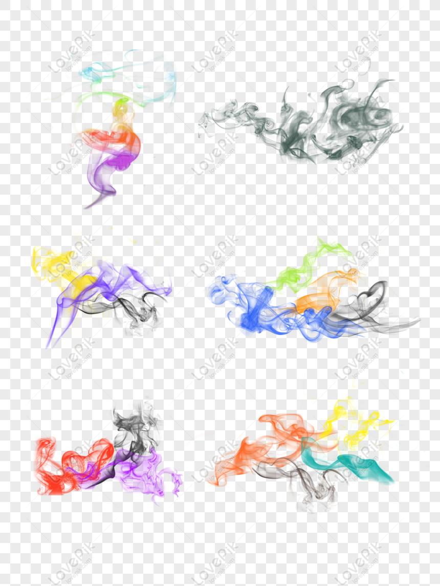 ink smoke color set png