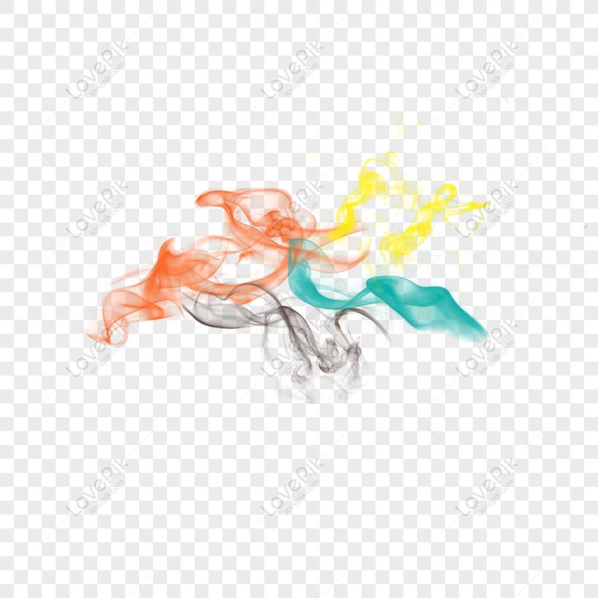 ink smoke orange smoke png