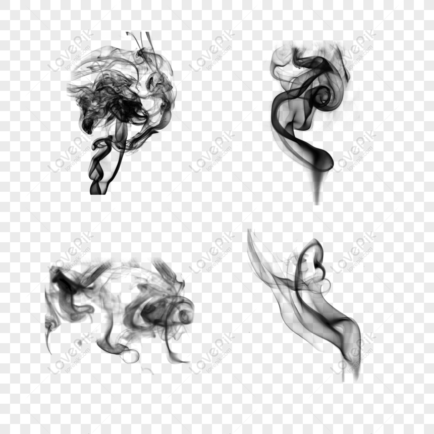 chinese style classical ink smoke png