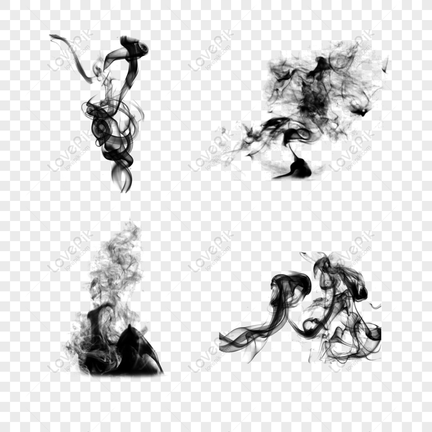 creative classical ink ink smoke png