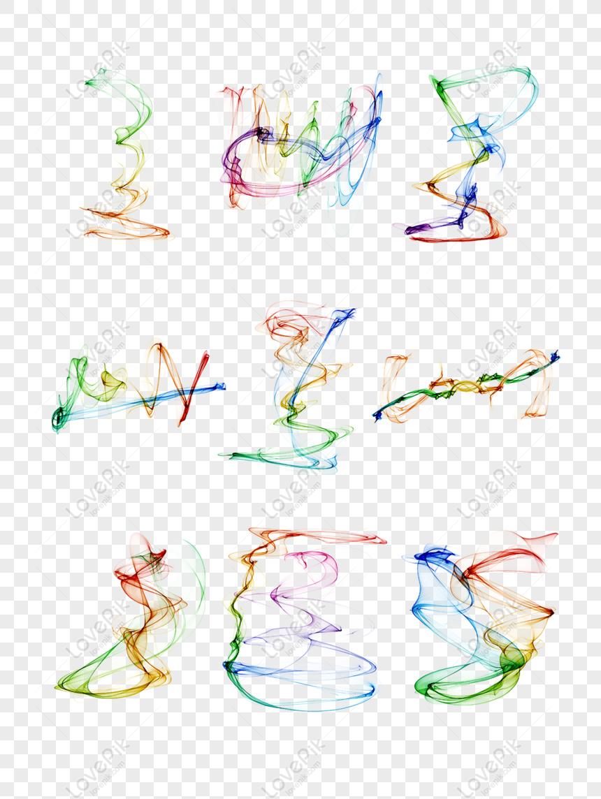 9 original watercolor ink ink colorful smoke png