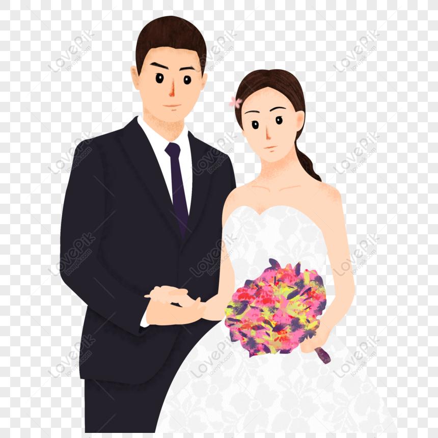 عريس وعروسة كرتون Png