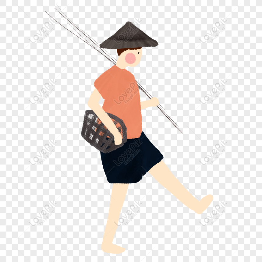 Free Barefoot Fisherman With A Fishing Rod Png Psd Image Download Size 2000 2000 Px Id 832307131 Lovepik