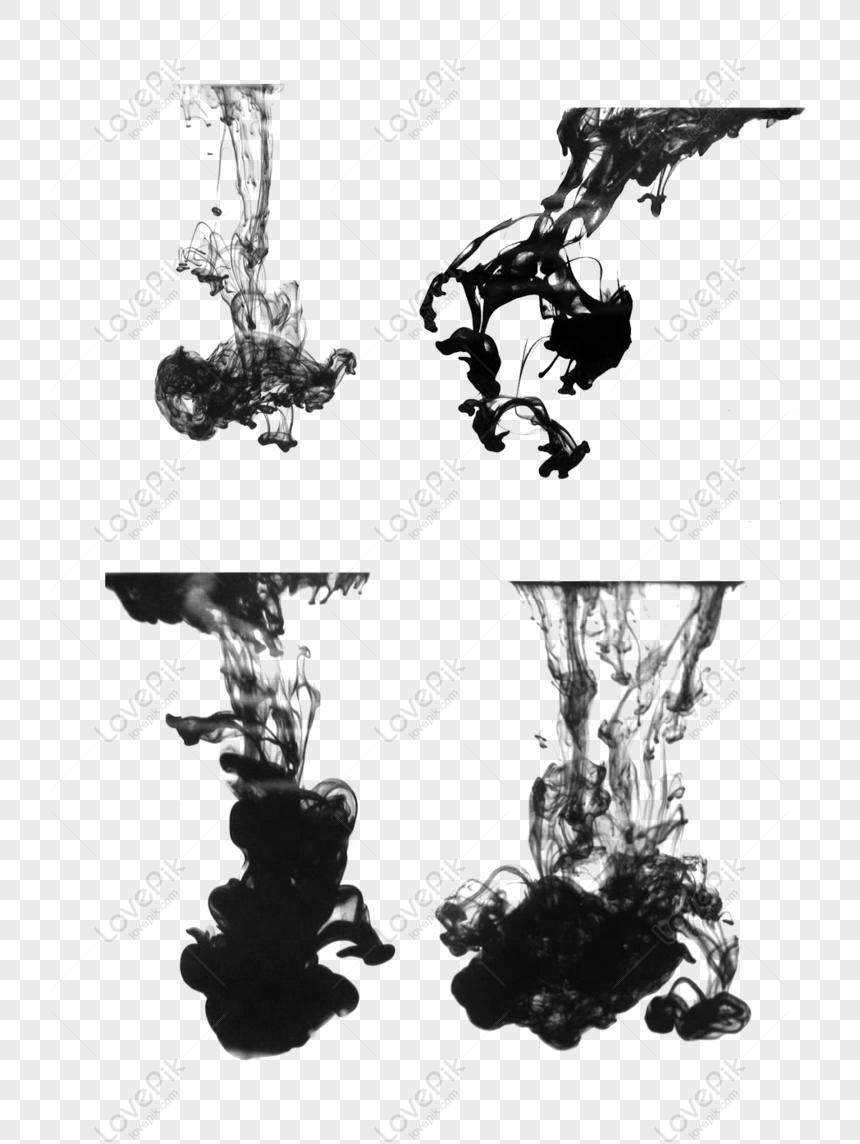 ink smoke ink color simple chinese style antique effect comm png