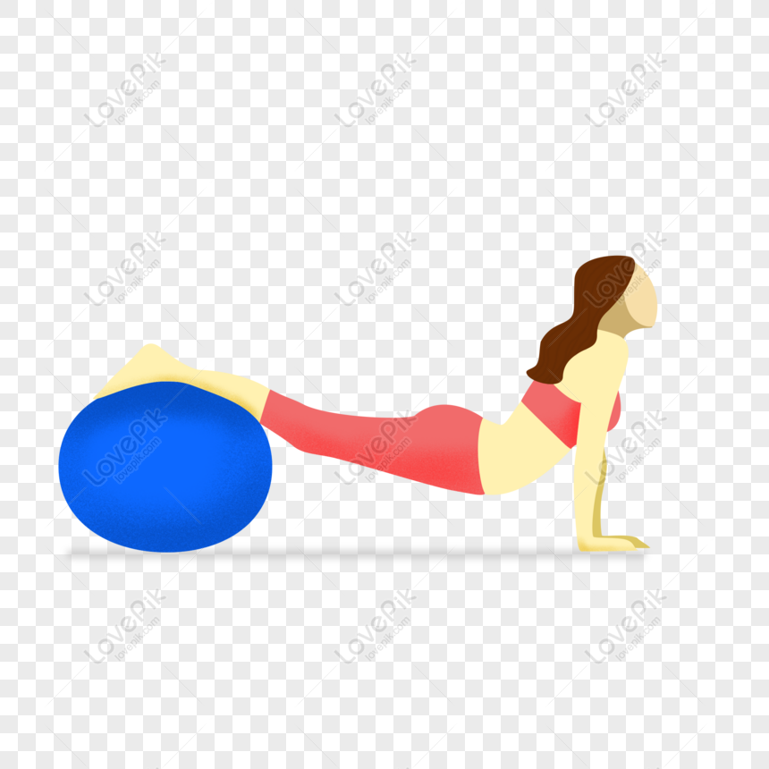 Free Hand Drawn Yoga Exercise Female Character Illustration Free Buck Png Psd Image Download Size 2000 2000 Px Id 832323841 Lovepik