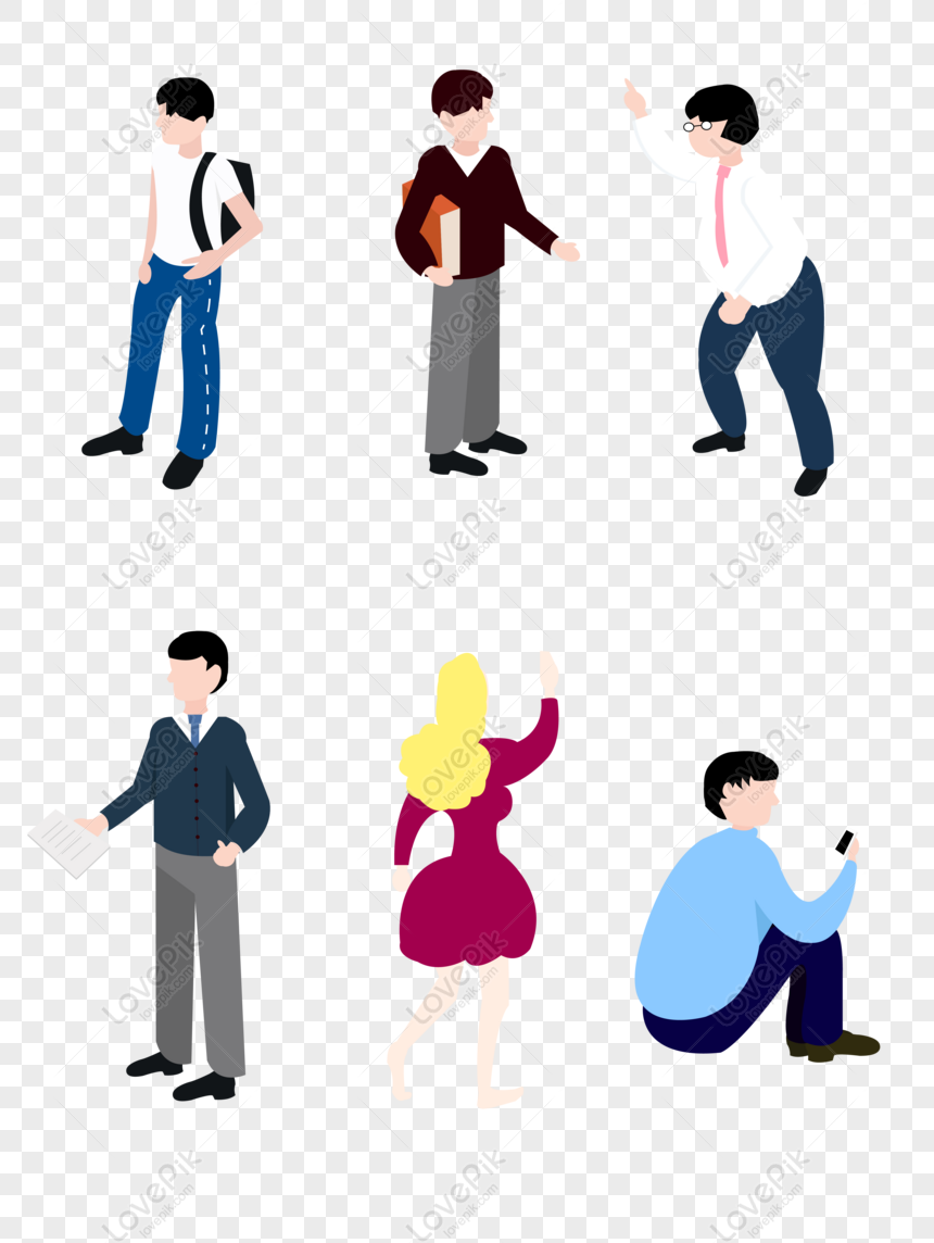 free vector character elements simple and small people from all walk png ai image download size 4267 5705 px id 832325507 lovepik lovepik