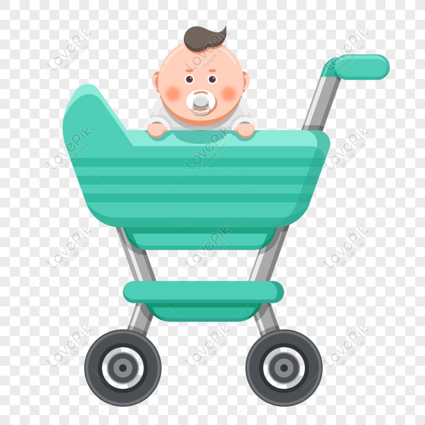 Dibujar, empujar el cochecito de bebé., material png