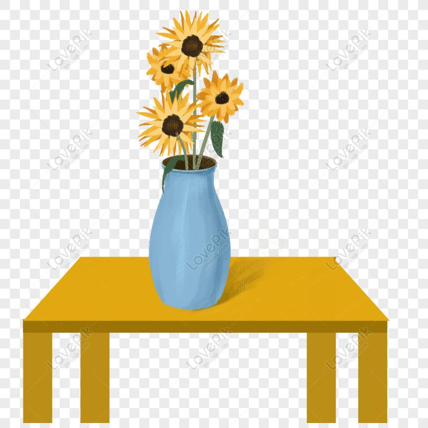 Gratis Bunga Matahari Yang Digambar Tangan Dalam Vas Di Atas Meja Png Psd Unduhan Gambar Ukuran 2000 2000px Id 832352135 Lovepik