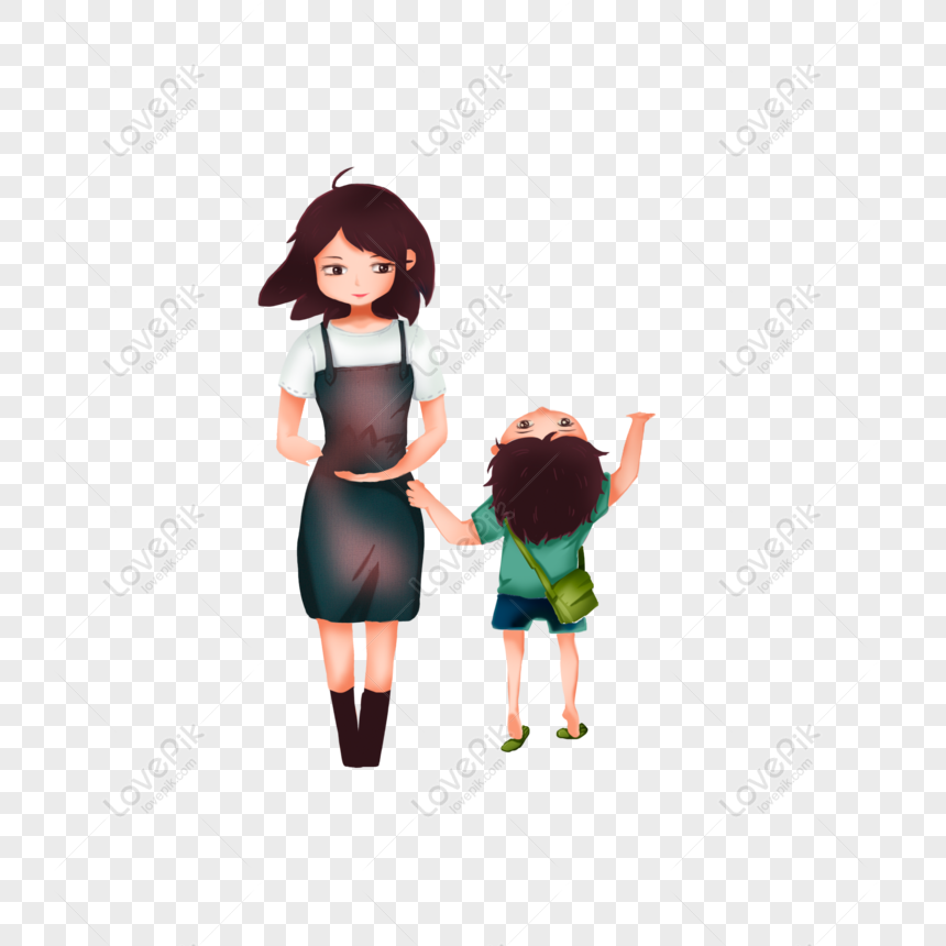Free Pretty Mother And Little Boy Cartoon Element Png Psd Image Download Size 2000 2000 Px Id 832364195 Lovepik