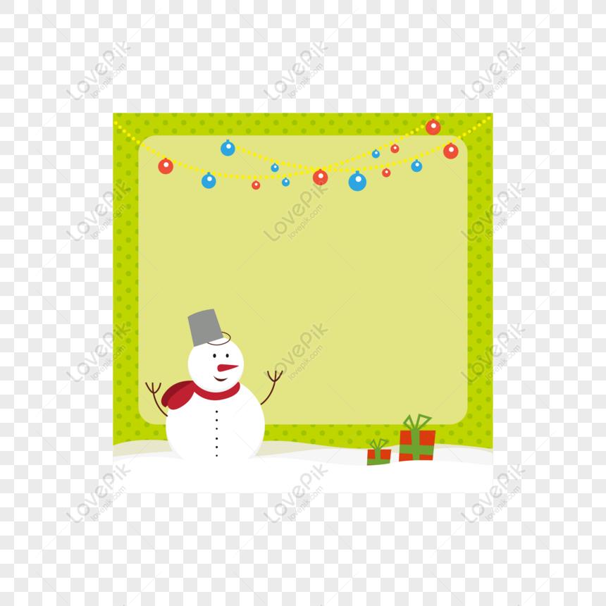 Gratuit Bordure De Fond Noël Dessin Animé Enfants Bonhomme