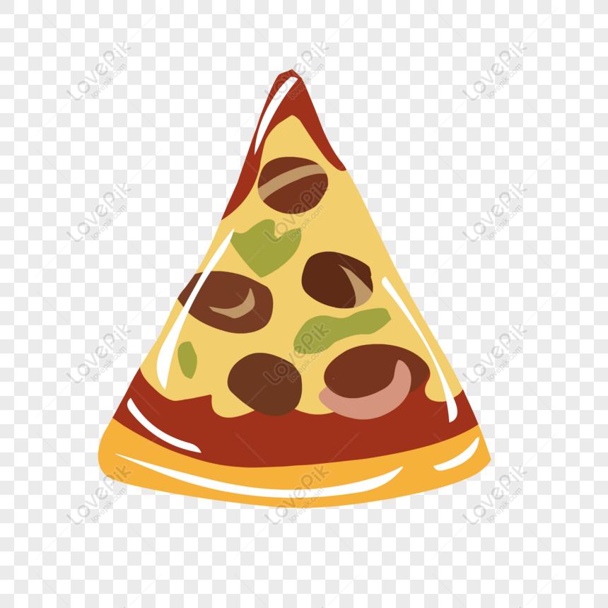 elementos de comida mão desenhada cartoon pizza png
