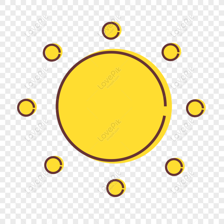 sun icon design cute cartoon weather mbe vector element png