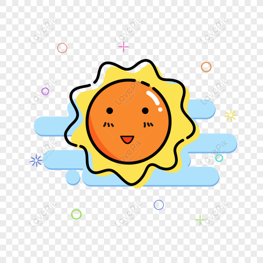 mbe cute sun sunny air break phone icon vector material png