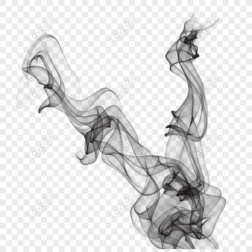 chinese wind ink smoke effect png